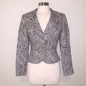 TRINA TURK Paisley Print Peplum Blazer Jacket